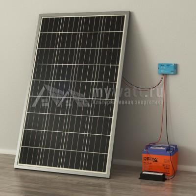 """Комплект солнечных батарей 0,3кВт/100Ач/0,6кВт*ч в сутки """"Автономная электростанция - 100"""""""