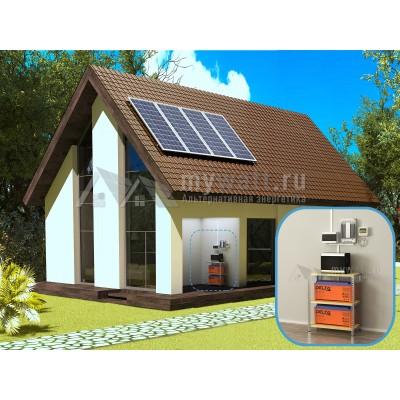 """Комплект солнечных батарей 3кВт/300Ач/6кВт*ч в сутки """"Автономная электростанция - 1000"""""""