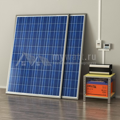 """Готовый комплект солнечных батарей """"Автономный - 400"""""""