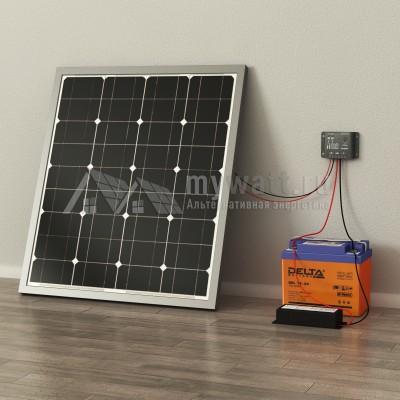 """Комплект солнечных батарей 0,3кВт/33Ач/0,3кВт*ч в сутки """"Автономная электростанция - 50"""""""