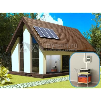 """Комплект солнечных батарей 1,5кВт/200Ач/3,6кВт*ч в сутки """"Автономная электростанция - 600"""""""