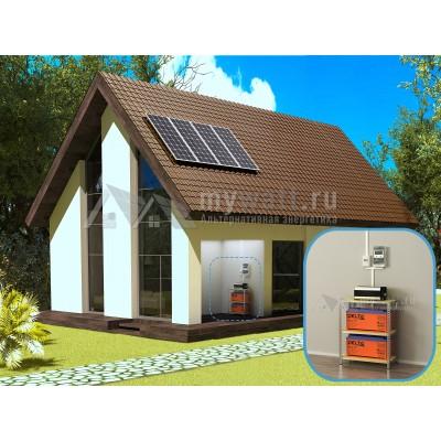 """Комплект солнечных батарей 1,5кВт/300Ач/3,6кВт*ч в сутки """"Автономная электростанция - 600+"""""""