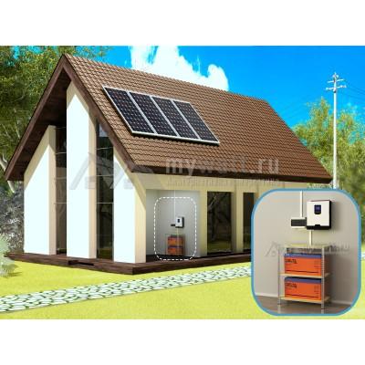 """Комплект солнечных батарей 3кВт/400Ач/6,5кВт*ч в сутки """"Комбинированная электростанция - 1200"""""""
