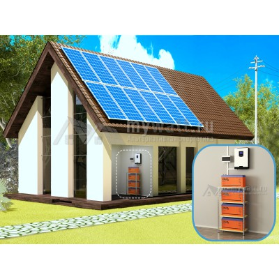 """Комплект солнечных батарей 5кВт/800Ач/18кВт*ч в сутки """"Комбинированная электростанция - 3000"""""""