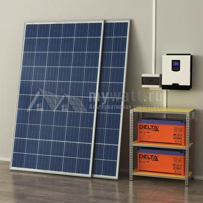 """Комплект солнечных батарей 3кВт/300Ач/3,6кВт*ч в сутки """"Комбинированная электростанция - 500"""""""