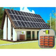 """Комплект солнечных батарей """"Комбинированно - Сетевой - 10080"""" (3 ФАЗЫ)"""