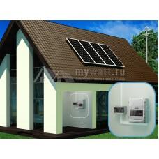 """Комплект солнечных батарей 6кВт*ч в сутки """"Сетевая электростанция - 1200"""""""