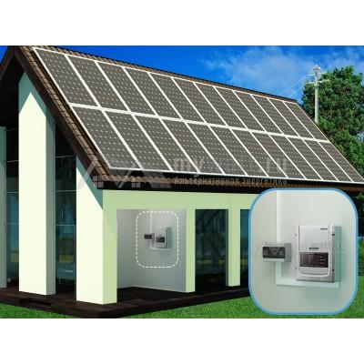 """Готовый комплект солнечных батарей """"Сетевой - 7200"""""""