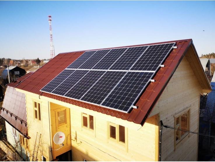 Сетевая солнечная электростанция 3кВт + ИБП 5кВт/9,6кВтч