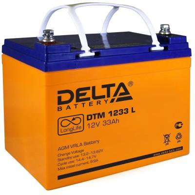 AGM аккумулятор DELTA DTM 1233 L