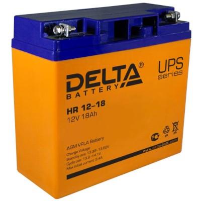 AGM аккумулятор DELTA HR 12-18