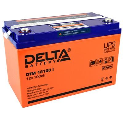 AGM аккумулятор Delta DTM 12100 i