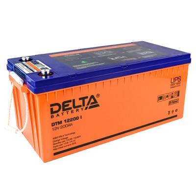 AGM аккумулятор Delta DTM 12200 i