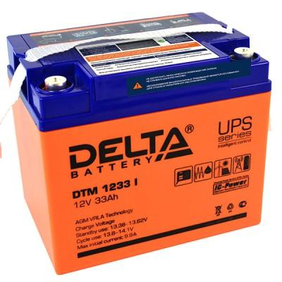 AGM аккумулятор DELTA DTM 1233 i