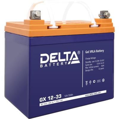 Гелевый аккумулятор DELTA GX 12-33
