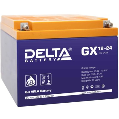 Гелевый аккумулятор DELTA GX 12-24