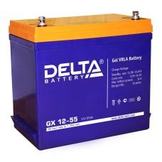 Гелевый аккумулятор DELTA GX 12-55