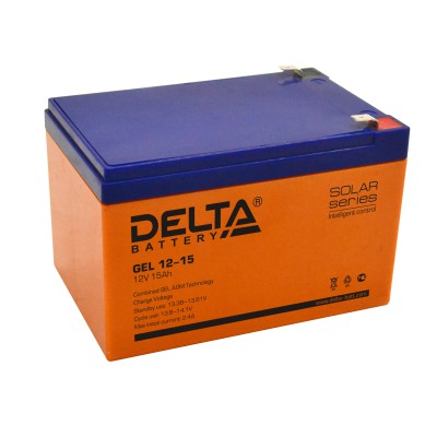 Гелевый аккумулятор DELTA GEL 12-15