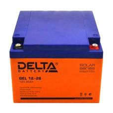 Гелевый аккумулятор DELTA GEL 12-26