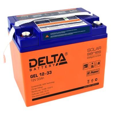 Гелевый аккумулятор DELTA GEL 12-33