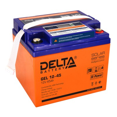Гелевый аккумулятор DELTA GEL 12-45