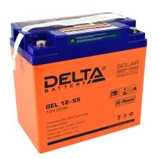 Гелевый аккумулятор DELTA GEL 12-55