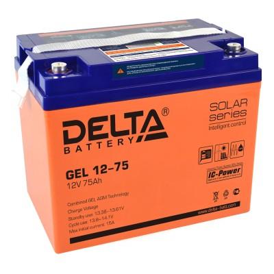 Гелевый аккумулятор DELTA GEL 12-75