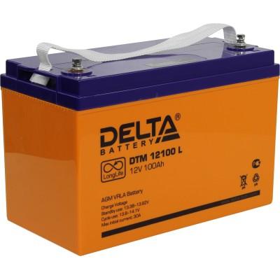 AGM аккумулятор DELTA DTM 12100 L