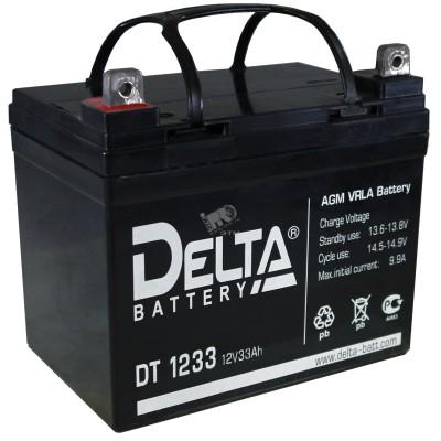 AGM аккумулятор Delta DT 1233