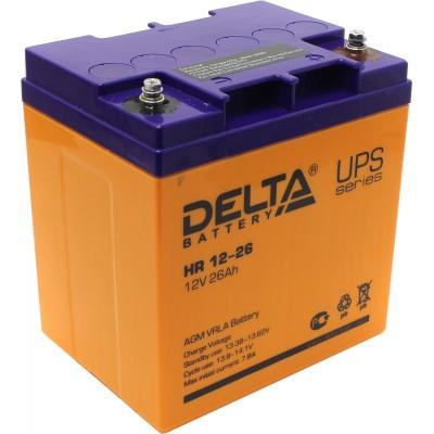 AGM аккумулятор DELTA HR 12-26 L