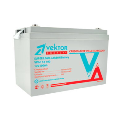 Карбоновый аккумулятор VEKTOR VPbC 12-100