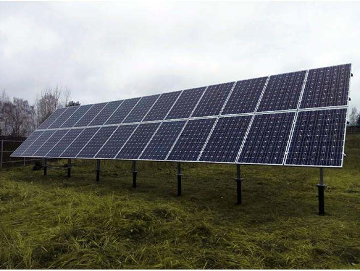 Металлоконструкция для размещения солнечных батарей на земле